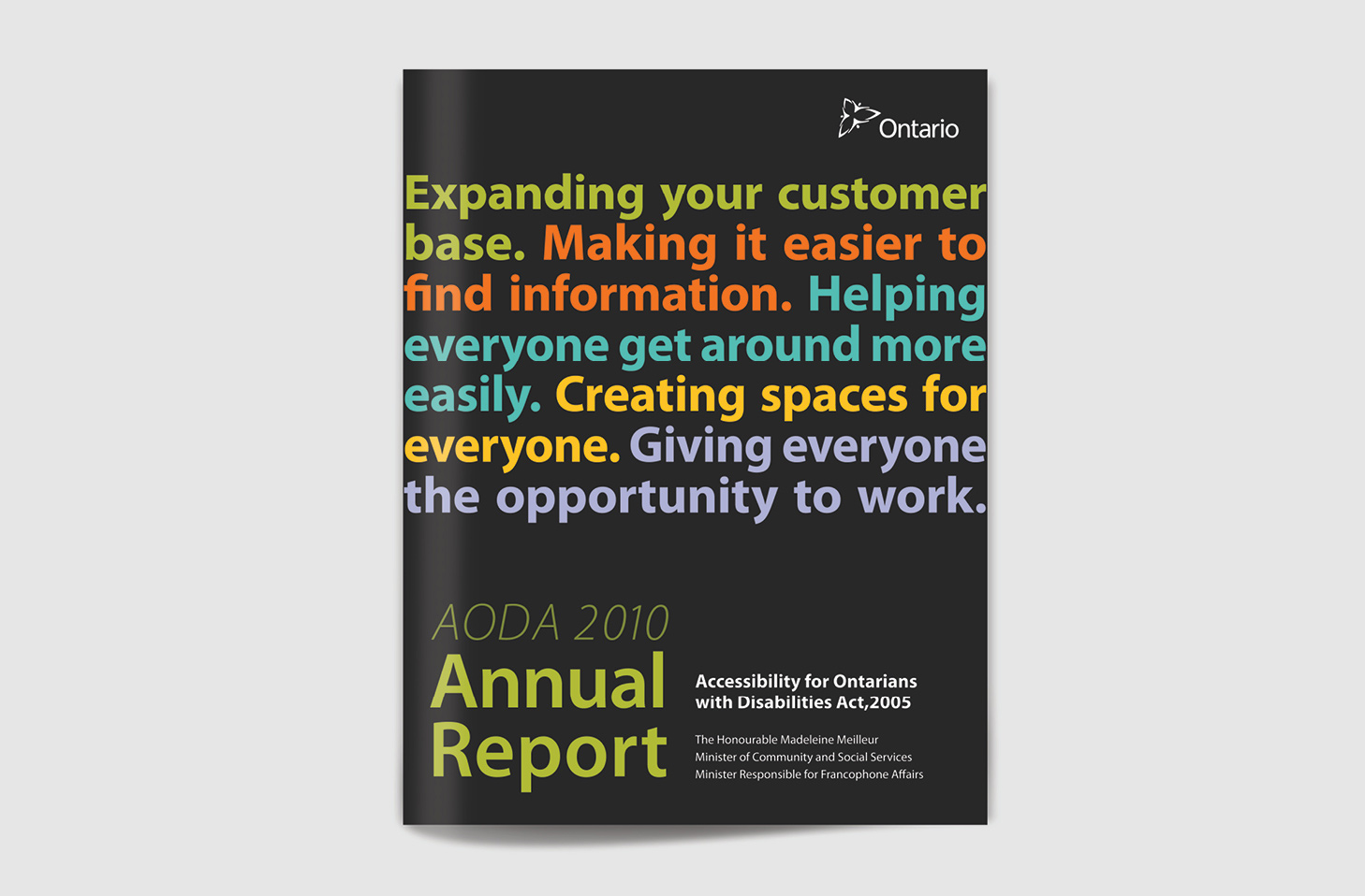 Cover of 2010 Annual Report.