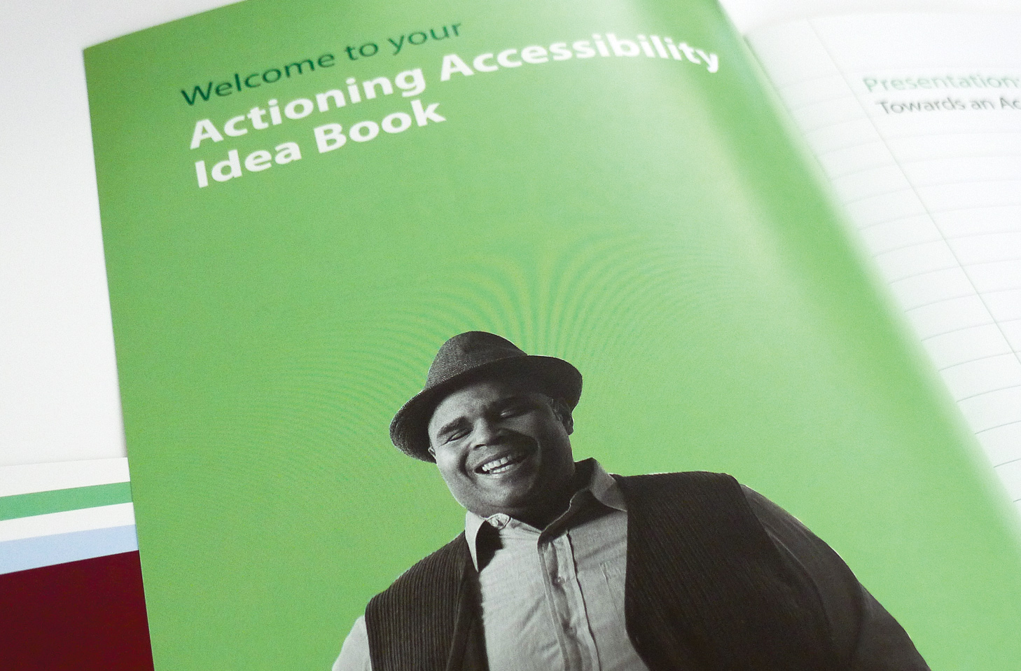 Actioning accessibility idea book.