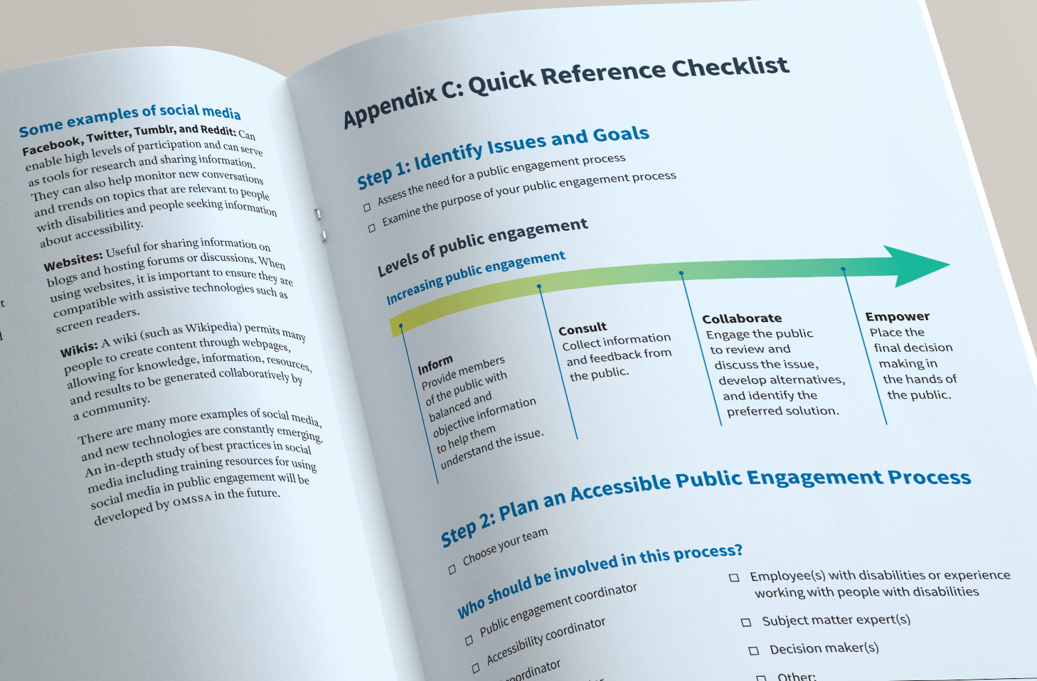 Guide to accessible public engagement: quick reference checklist.