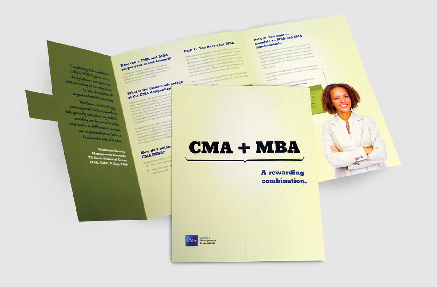 Interlocking CMA & MBA brochure.